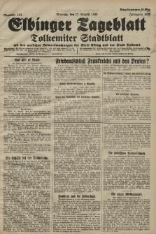 Elbinger Tageblatt, Nr. 191 Montag 17 August 1925