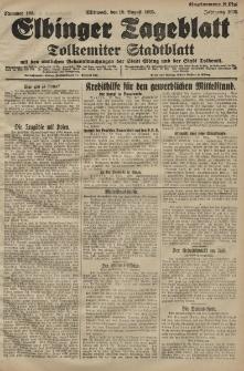 Elbinger Tageblatt, Nr. 193 Mittwoch 19 August 1925
