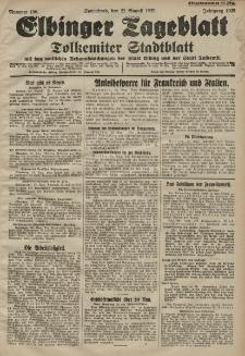 Elbinger Tageblatt, Nr. 196 Sonnabend 22 August 1925
