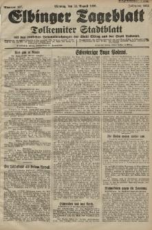 Elbinger Tageblatt, Nr. 197 Montag 24 August 1925