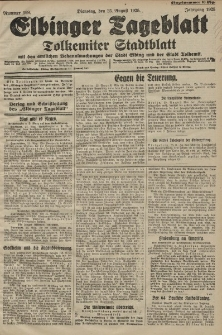 Elbinger Tageblatt, Nr. 198 Dienstag 25 August 1925