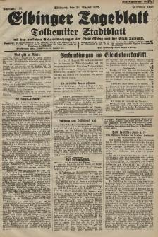 Elbinger Tageblatt, Nr. 199 Mittwoch 26 August 1925
