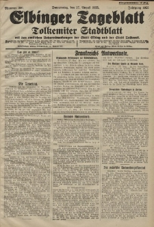 Elbinger Tageblatt, Nr. 200 Donnerstag 27 August 1925