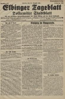 Elbinger Tageblatt, Nr. 201 Freitag 28 August 1925