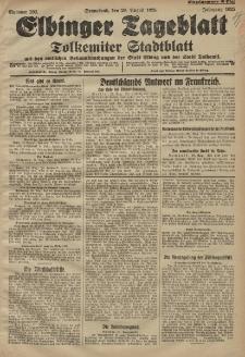 Elbinger Tageblatt, Nr. 202 Sonnabend 29 August 1925