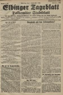 Elbinger Tageblatt, Nr. 204 Dienstag 1 September 1925