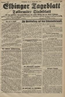 Elbinger Tageblatt, Nr. 205 Mittwoch 2 September 1925