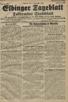 Elbinger Tageblatt, Nr. 209 Montag 7 September 1925