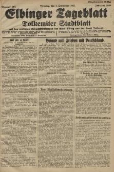 Elbinger Tageblatt, Nr. 210 Dienstag 8 September 1925
