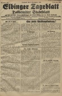 Elbinger Tageblatt, Nr. 211 Mittwoch 9 September 1925