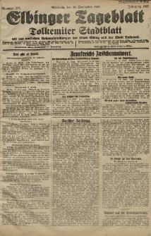 Elbinger Tageblatt, Nr. 217 Mittwoch 16 September 1925