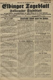 Elbinger Tageblatt, Nr. 223 Mittwoch 23 September 1925