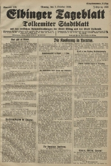 Elbinger Tageblatt, Nr. 233 Montag 5 Oktober 1925