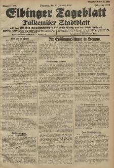 Elbinger Tageblatt, Nr. 234 Dienstag 6 Oktober 1925