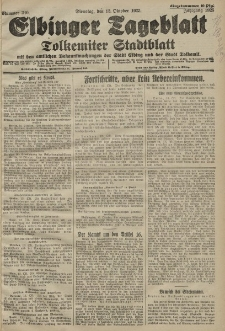 Elbinger Tageblatt, Nr. 240 Dienstag 13 Oktober 1925