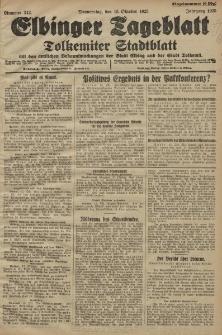 Elbinger Tageblatt, Nr. 242 Donnerstag 15 Oktober 1925