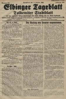 Elbinger Tageblatt, Nr. 244 Sonnabend 17 Oktober 1925