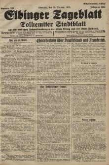 Elbinger Tageblatt, Nr. 246 Dienstag 20 Oktober 1925