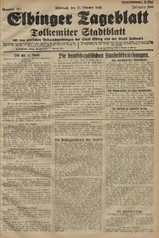 Elbinger Tageblatt, Nr. 247 Mittwoch 21 Oktober 1925