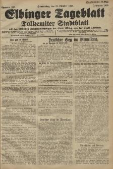 Elbinger Tageblatt, Nr. 248 Donnerstag 22 Oktober 1925