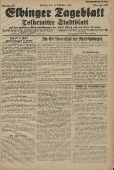 Elbinger Tageblatt, Nr. 249 Freitag 23 Oktober 1925