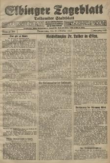 Elbinger Tageblatt, Nr. 254 Donnerstag 29 Oktober 1925