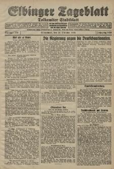 Elbinger Tageblatt, Nr. 256 Sonnabend 31 Oktober 1925