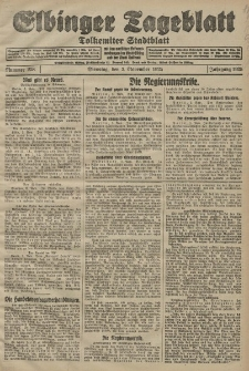Elbinger Tageblatt, Nr. 258 Dienstag 3 November 1925