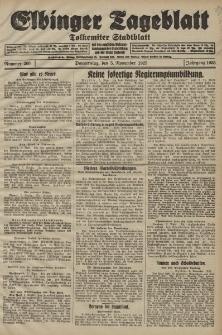 Elbinger Tageblatt, Nr. 260 Donnerstag 5 November 1925