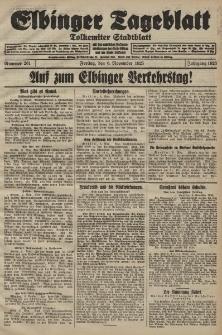 Elbinger Tageblatt, Nr. 261 Freitag 6 November 1925