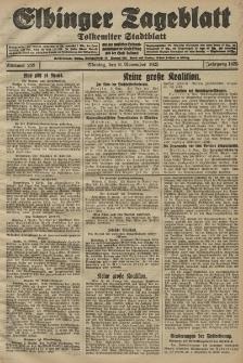 Elbinger Tageblatt, Nr. 263 Montag 9 November 1925