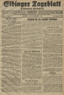 Elbinger Tageblatt, Nr. 265 Mittwoch 11 November 1925