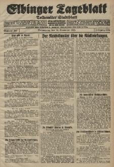 Elbinger Tageblatt, Nr. 266 Donnerstag 12 November 1925