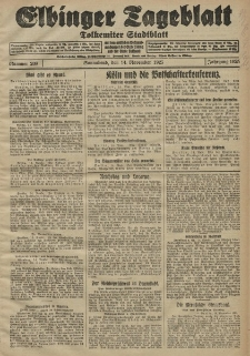 Elbinger Tageblatt, Nr. 268 Sonnabend 14 November 1925