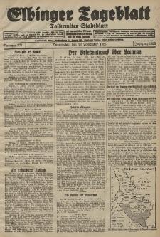 Elbinger Tageblatt, Nr. 271 Donnerstag 19 November 1925