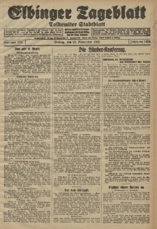Elbinger Tageblatt, Nr. 272 Freitag 20 November 1925