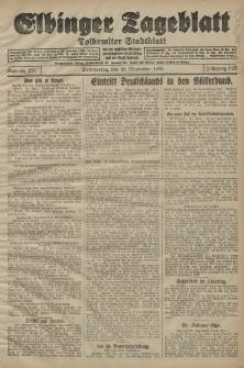 Elbinger Tageblatt, Nr. 277 Donnerstag 26 November 1925
