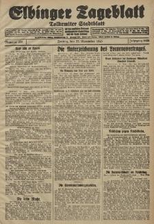 Elbinger Tageblatt, Nr. 278 Freitag 27 November 1925