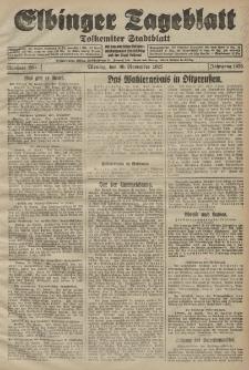 Elbinger Tageblatt, Nr. 280 Montag 30 November 1925