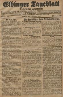 Elbinger Tageblatt, Nr. 287 Dienstag 8 Dezember 1925