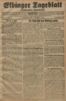 Elbinger Tageblatt, Nr. 295 Donnerstag 17 Dezember 1925