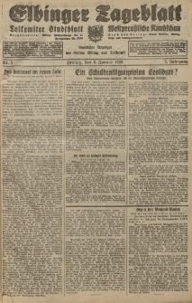 Elbinger Tageblatt, Nr. 5 Freitag 6 Januar 1928, 5. Jahrgang