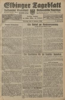 Elbinger Tageblatt, Nr. 7 Montag 9 Januar 1928, 5. Jahrgang