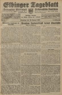 Elbinger Tageblatt, Nr. 8 Dienstag 10 Januar 1928, 5. Jahrgang