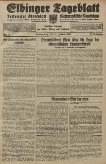 Elbinger Tageblatt, Nr. 10 Donnerstag 12 Januar 1928, 5. Jahrgang