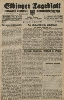 Elbinger Tageblatt, Nr. 11 Freitag 13 Januar 1928, 5. Jahrgang
