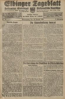 Elbinger Tageblatt, Nr. 16 Donnerstag 19 Januar 1928, 5. Jahrgang