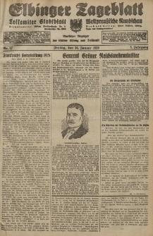 Elbinger Tageblatt, Nr. 17 Freitag 20 Januar 1928, 5. Jahrgang