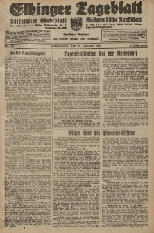 Elbinger Tageblatt, Nr. 18 Sonnabend 21 Januar 1928, 5. Jahrgang