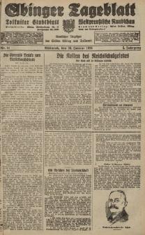 Elbinger Tageblatt, Nr. 21 Mittwoch 25 Januar 1928, 5. Jahrgang